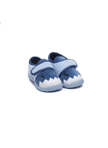 First Step Gümüş Prenses Nakışlı Panduf-F-711 Mavi